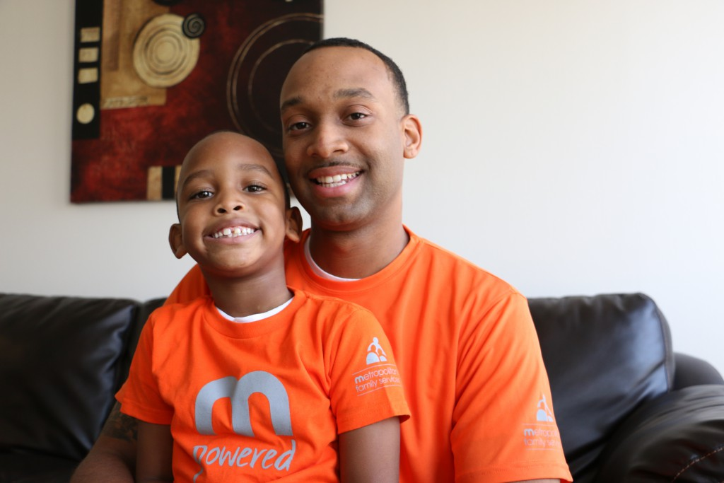 Ryan Reese and his 5-year-old son Ryan Reese, Jr.
